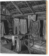 Chinese Laundry In Montana Territory Wood Print by Daniel Hagerman