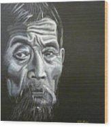 Chinese Man Wood Print