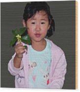 Chinese Orphan Girl Wood Print