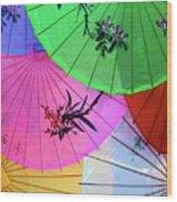 Chinese Parasols Wood Print
