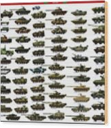 Chinese Pla Tanks Wood Print
