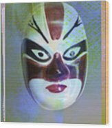 Chinese Porcelain Mask Wood Print