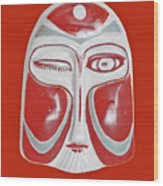 Chinese Porcelain Mask Red Wood Print