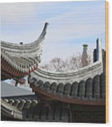 Chinese Rooflines Wood Print