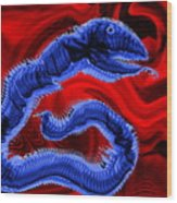 Chinese Serpent Rising Wood Print