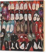 Chinese Slippers Wood Print