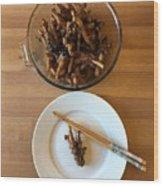 Chinese Spicy Chicken Feet Wood Print