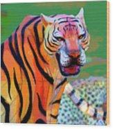 Chinese Tiger 2 Wood Print