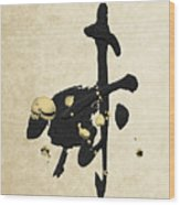 Chinese Zodiac - Year Of The Goat On Rice Paper Wood Print