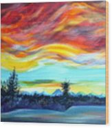 Chinook Arch Over Bow River Wood Print