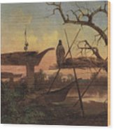 Chinook Burial Grounds Wood Print