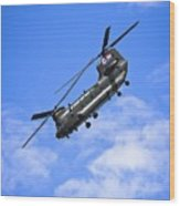 Chinook Helicopter Wood Print