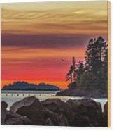 Chinook Sunset 2 Wood Print