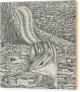 Chipmonk Wood Print