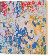 Chipped Wall 4 Wood Print