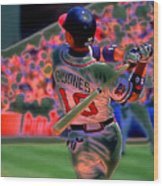 Chipper Jones Wood Print by Rod Kaye