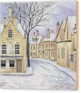 Chipping Campden In Snow Wood Print by Scott Nelson