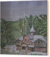 Chirch Near Gorno-altaisk  Wood Print