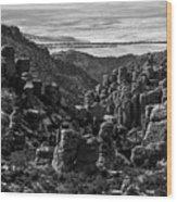 Chiricahua Hoodoo Vista Wood Print