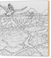 Chiricahua Mountains Wood Print