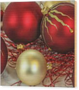 Chirstmas Ornaments Wood Print