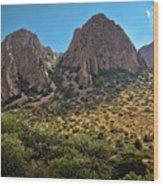 Chisos Mountain Range Wood Print