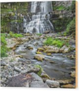 Chittenango Falls In Autumn  Wood Print