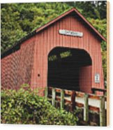 Chitwood Covered Bridge Wood Print