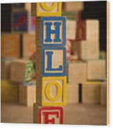 Chloe - Alphabet Blocks Wood Print