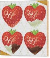 Chocolate - 7  Strawberry Wood Print
