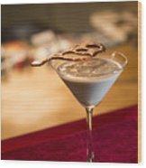 Chocolate And Cream Martini Cocktail Wood Print