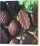 Chocolate Candy Wood Print