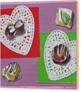 Chocolate Hearts Wood Print
