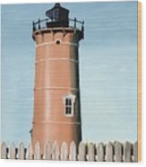 Chocolate Lighthouse Wood Print