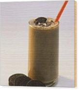 Chocolate Milk With Cookies Wood Print