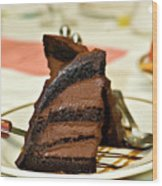 Chocolate Mousse Cake Wood Print
