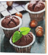 Chocolate Muffins Wood Print