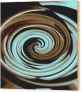 Chocolate Swirls Wood Print