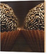 Chocolate Truffles Wood Print
