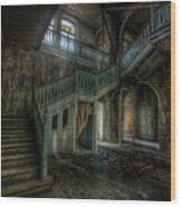 Chocolate Villa Hallway Wood Print