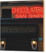 Chocolateria Wood Print