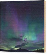 Chocorua Aurora Wood Print