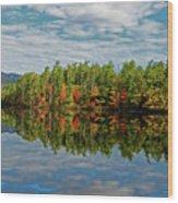 Chocorua Lake Reflection Wood Print