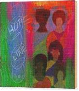 Choir Girls Wood Print