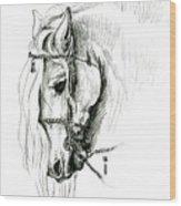 Chomping At Bit - Sketch1 Wood Print