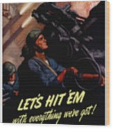 Choose The Navy -- Ww2 Wood Print