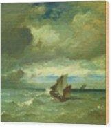 Choppy Sea 1870 Wood Print