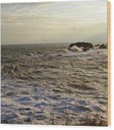 Choppy Seas Wood Print