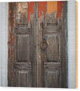Chora Door Wood Print