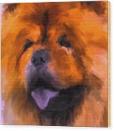 Chow Portrait Wood Print